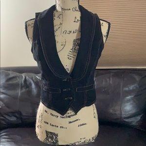 🌹Lauren Jeans company by Ralph Lauren Black Vest